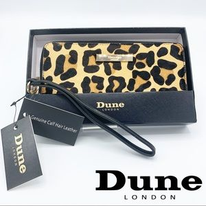 New DUNE LONDON Leopard Print Calf Hair Wallet